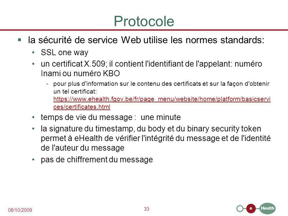 Protocole la sécurité de service Web utilise les normes standards: