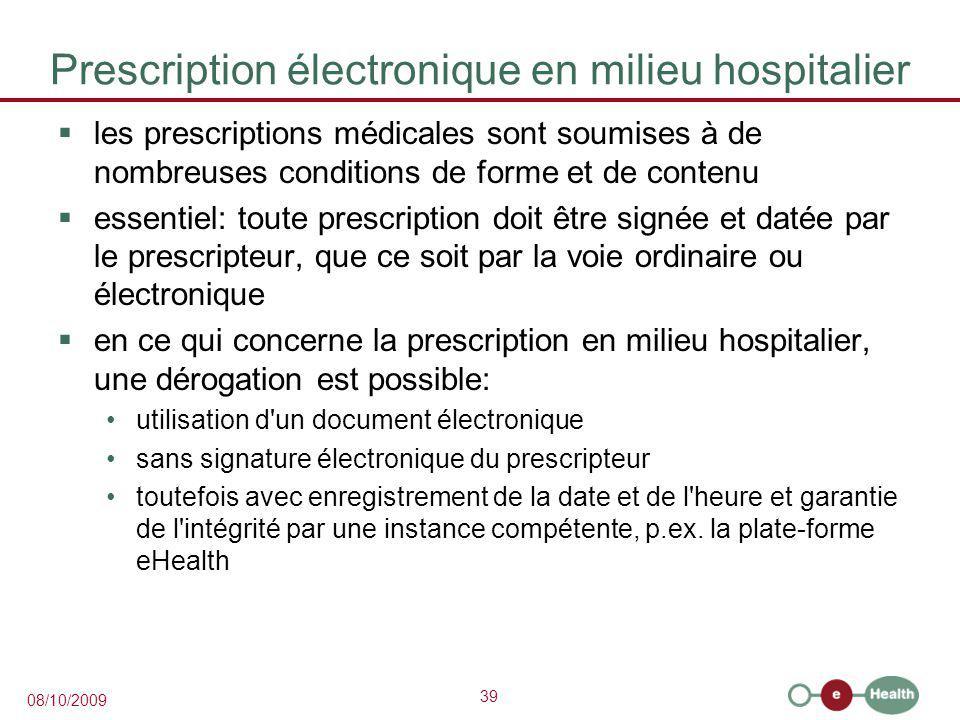 Prescription électronique en milieu hospitalier