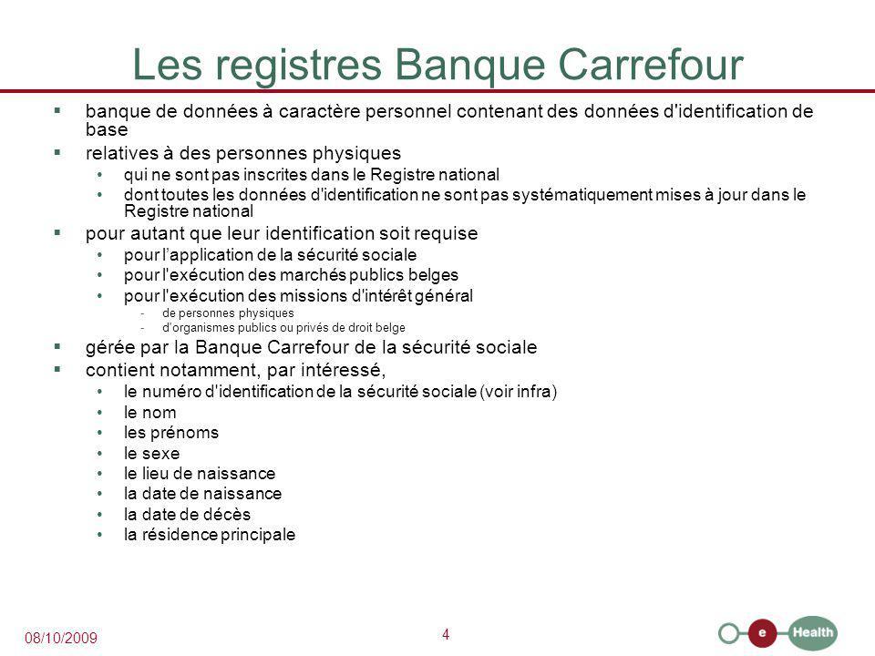 Les registres Banque Carrefour