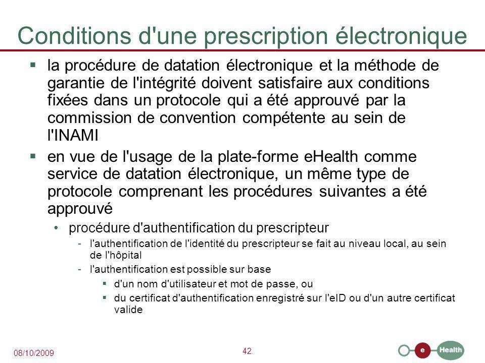 Conditions d une prescription électronique