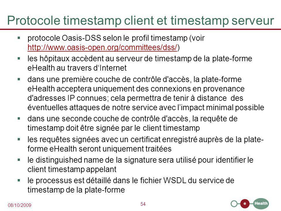Protocole timestamp client et timestamp serveur