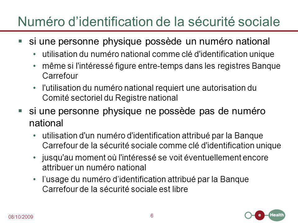 Numéro d'identification de la sécurité sociale