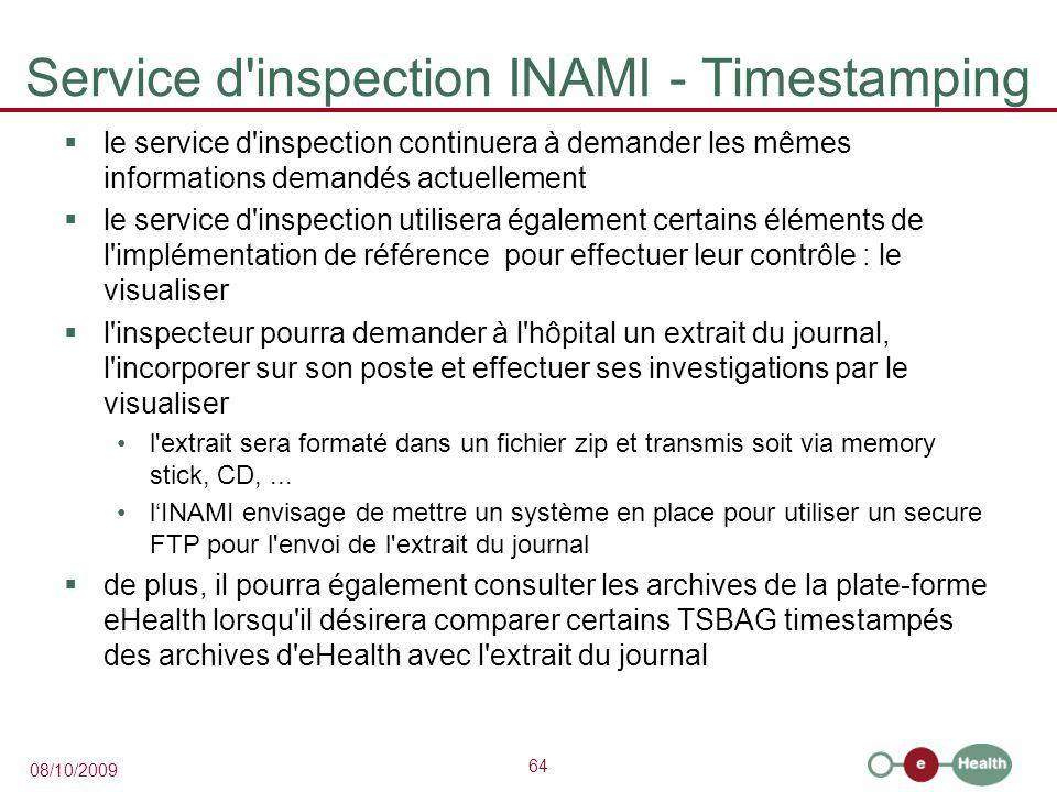 Service d inspection INAMI - Timestamping