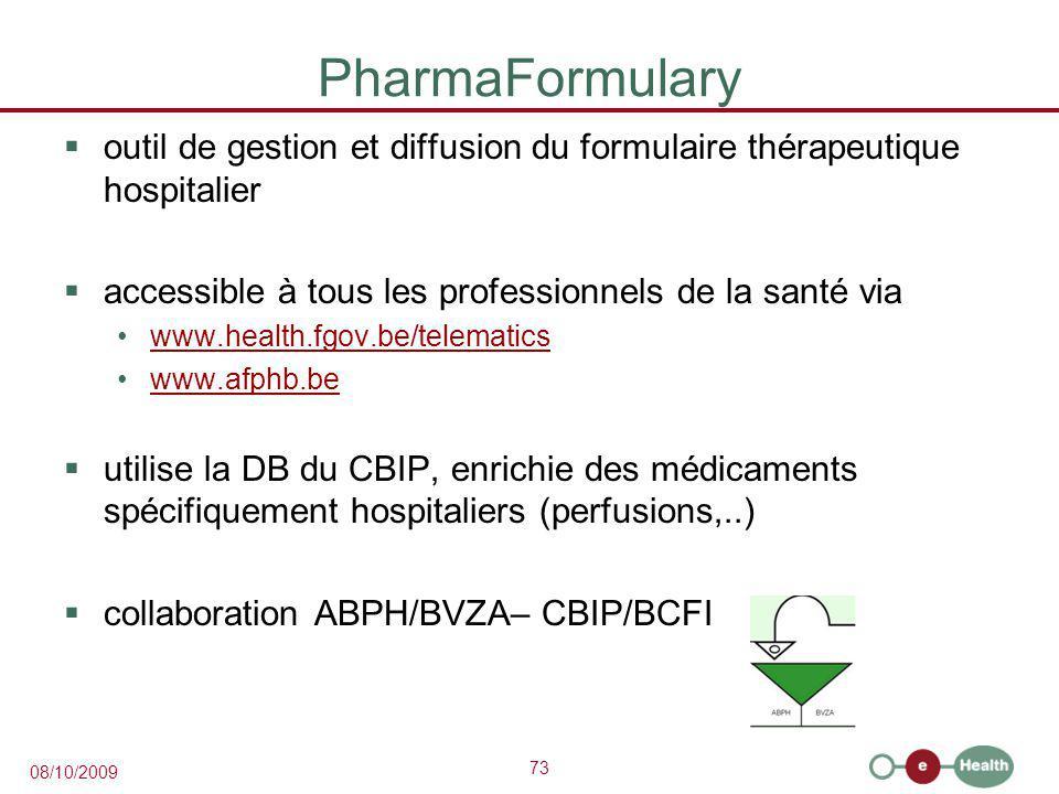 PharmaFormulary outil de gestion et diffusion du formulaire thérapeutique hospitalier. accessible à tous les professionnels de la santé via.