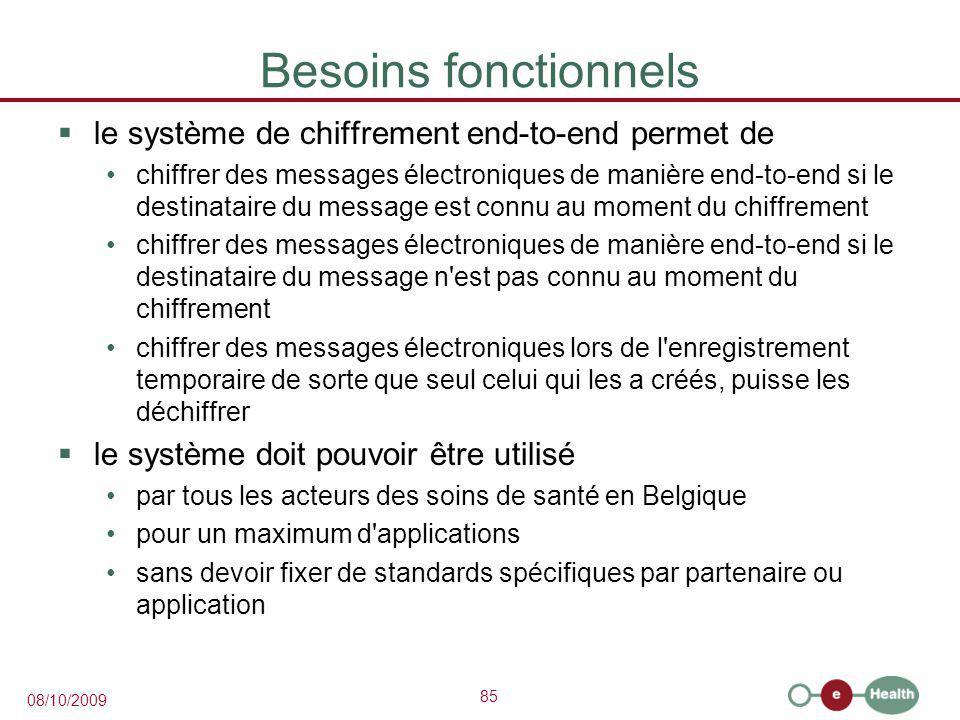 Besoins fonctionnels le système de chiffrement end-to-end permet de
