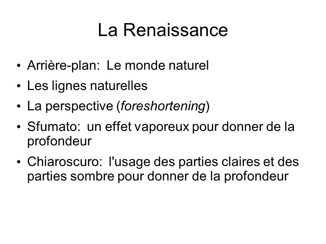 La Renaissance Arrière-plan: Le monde naturel Les lignes naturelles