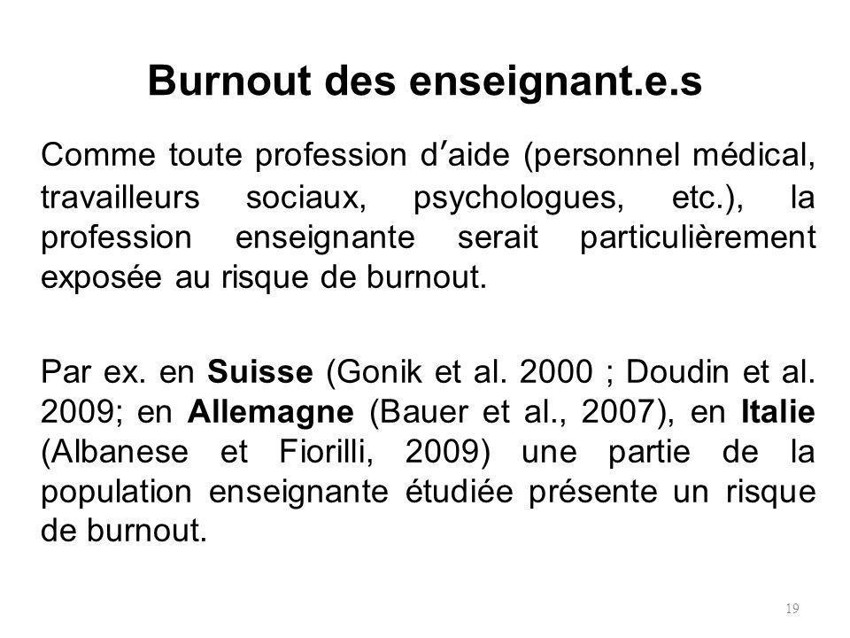 Burnout des enseignant.e.s