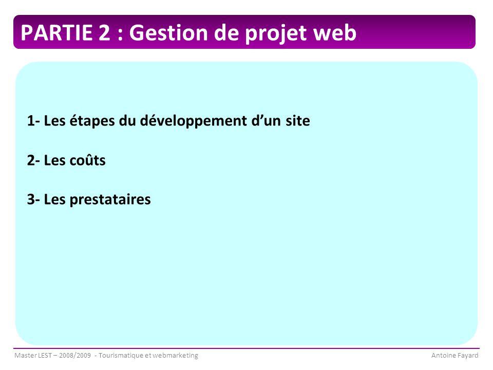 PARTIE 2 : Gestion de projet web