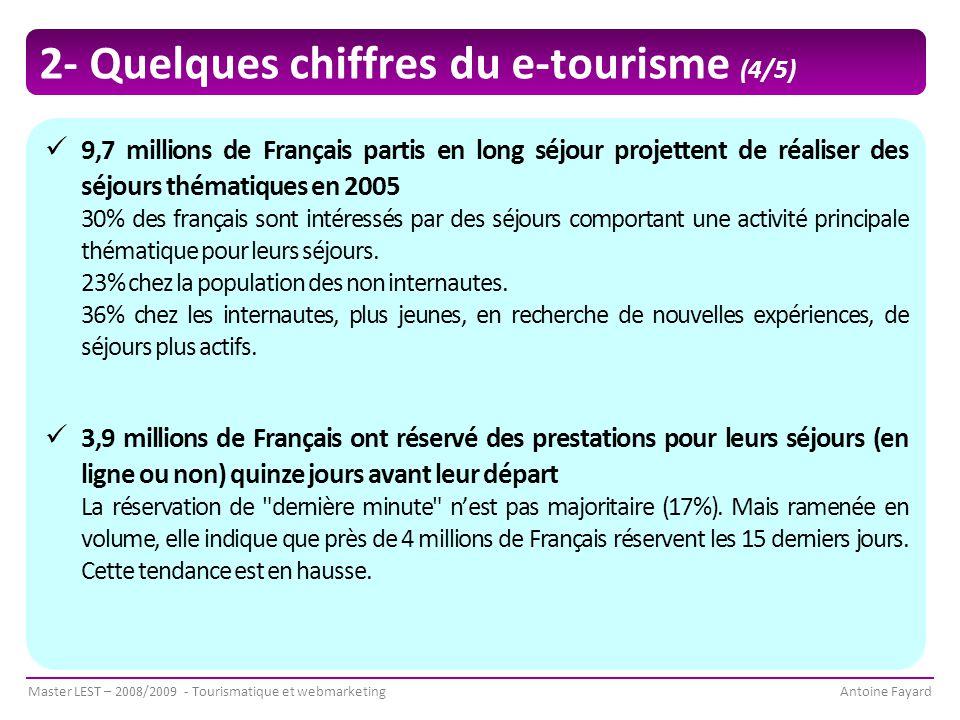 2- Quelques chiffres du e-tourisme (4/5)