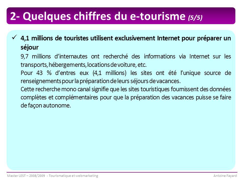 2- Quelques chiffres du e-tourisme (5/5)