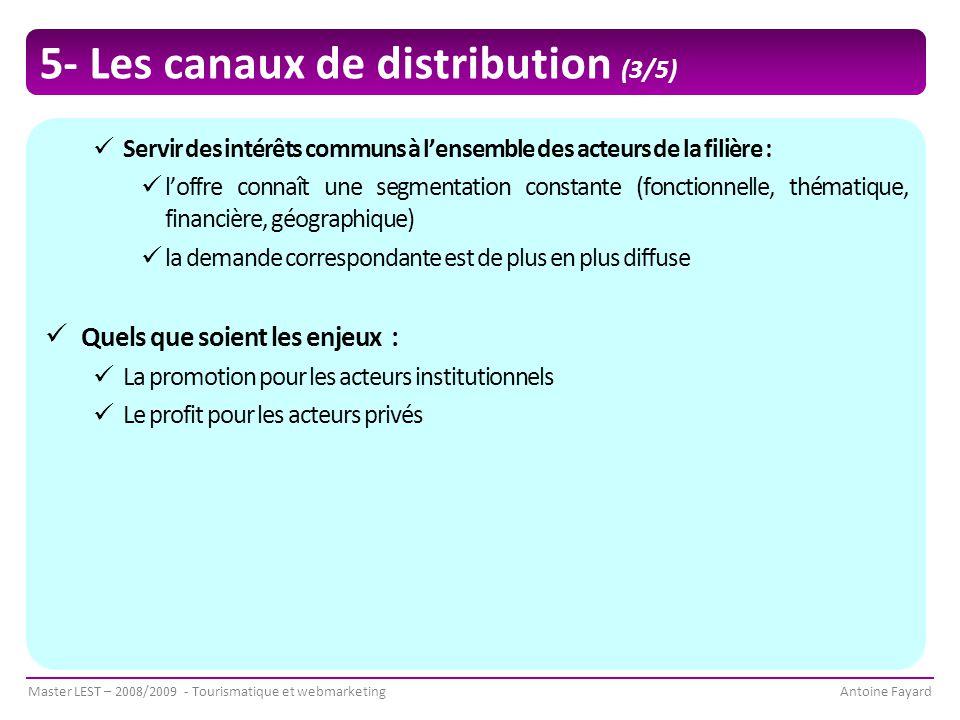 5- Les canaux de distribution (3/5)