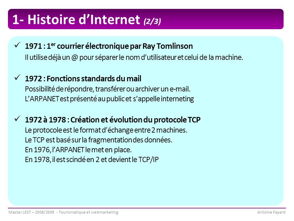 1- Histoire d'Internet (2/3)