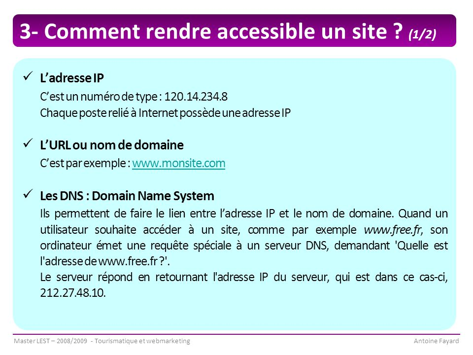 3- Comment rendre accessible un site (1/2)