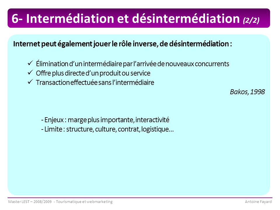 6- Intermédiation et désintermédiation (2/2)