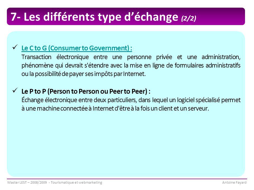 7- Les différents type d'échange (2/2)