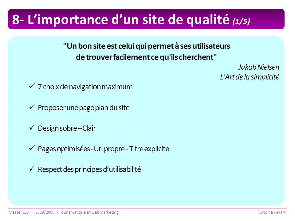 8- L'importance d'un site de qualité (1/5)