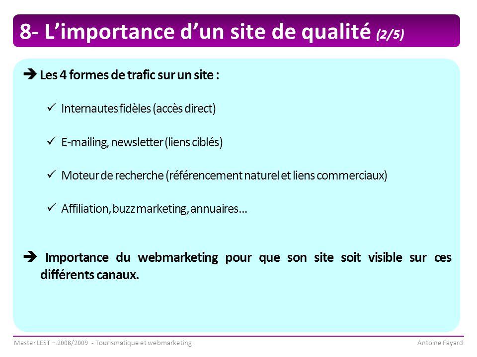 8- L'importance d'un site de qualité (2/5)