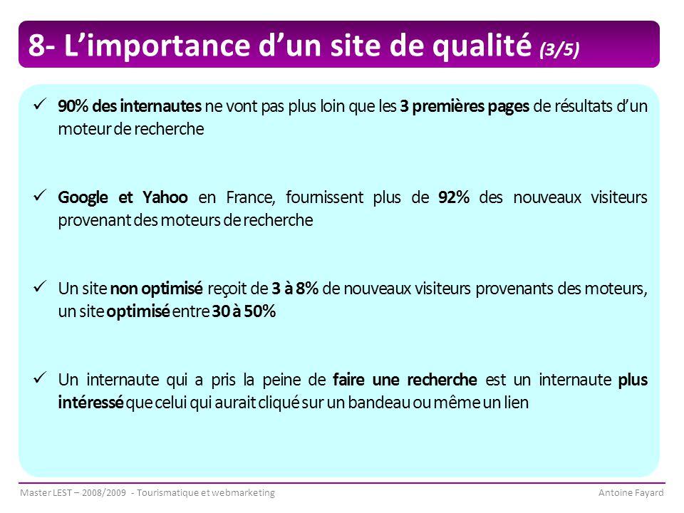 8- L'importance d'un site de qualité (3/5)