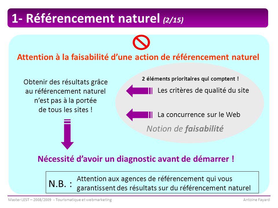 Attention à la faisabilité d'une action de référencement naturel