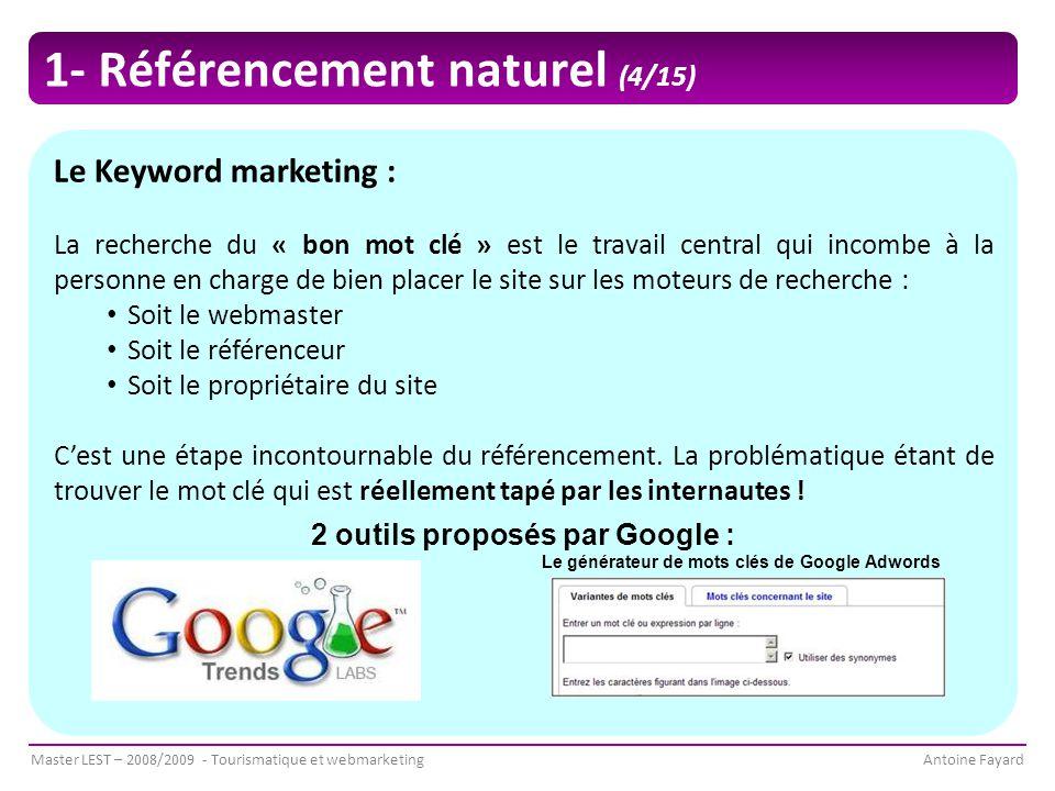 2 outils proposés par Google :