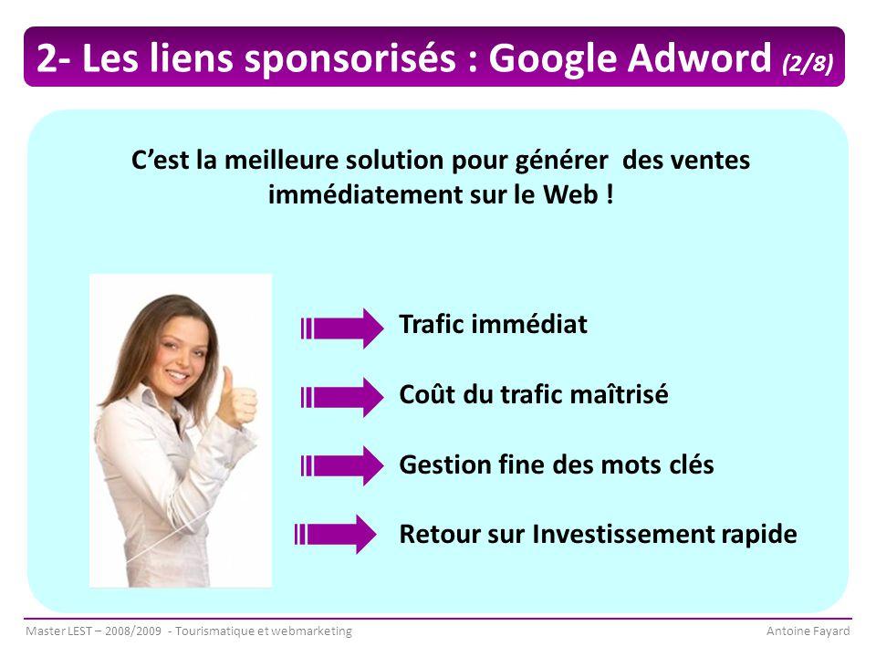 2- Les liens sponsorisés : Google Adword (2/8)