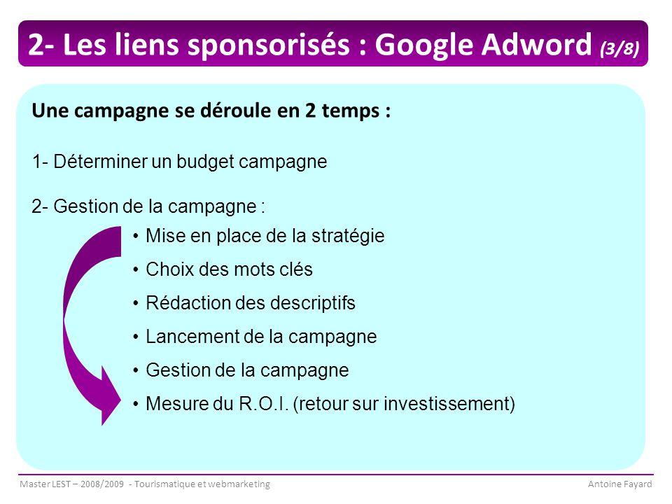 2- Les liens sponsorisés : Google Adword (3/8)