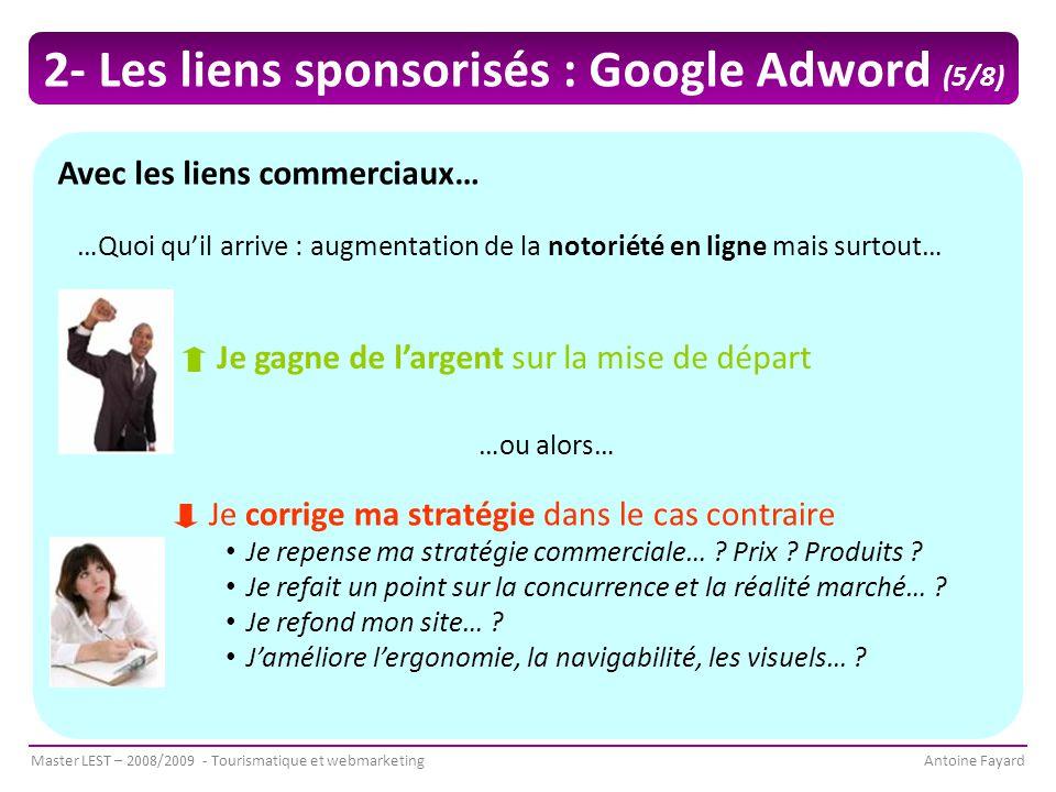 2- Les liens sponsorisés : Google Adword (5/8)