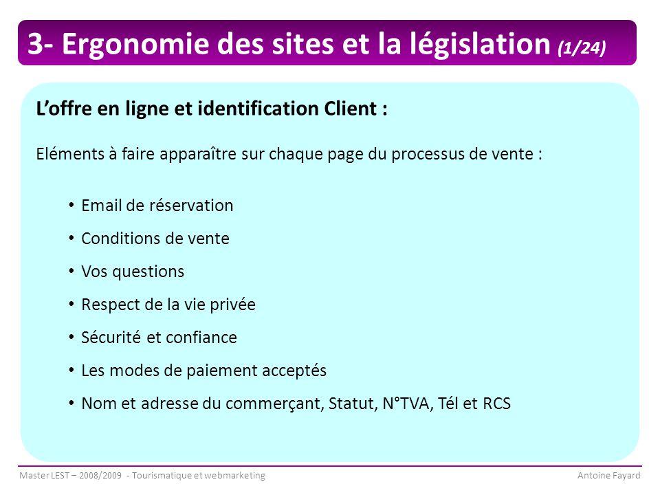 3- Ergonomie des sites et la législation (1/24)
