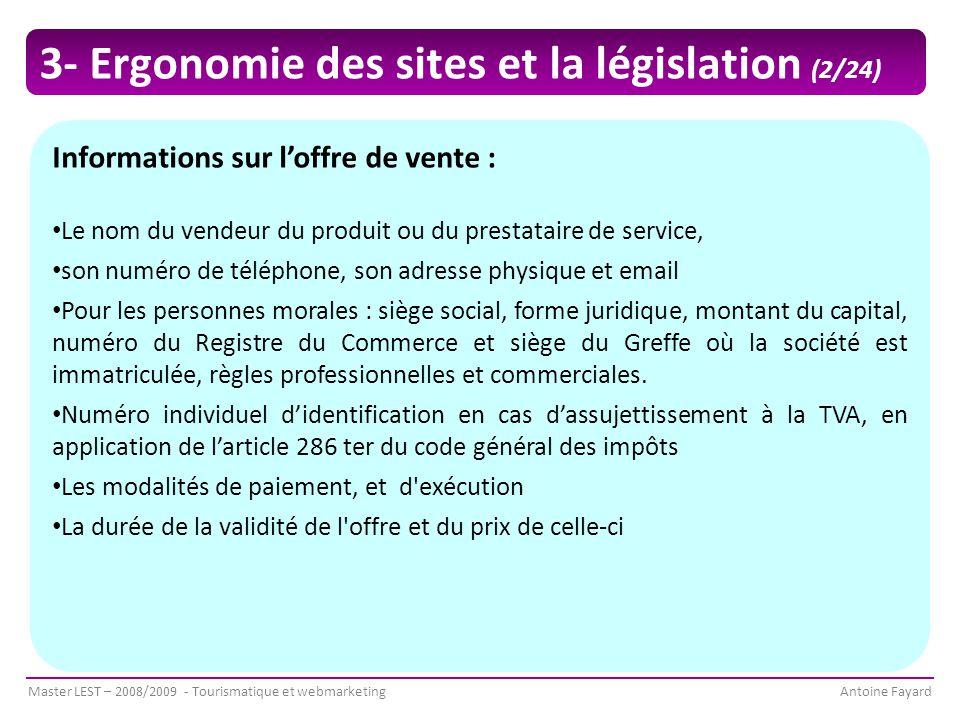 3- Ergonomie des sites et la législation (2/24)