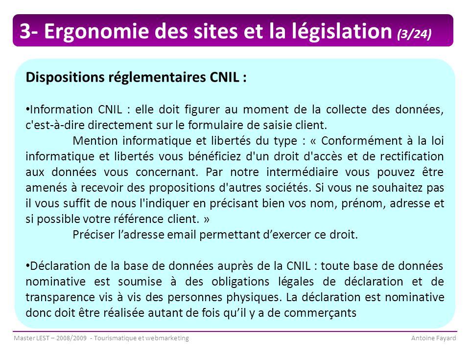 3- Ergonomie des sites et la législation (3/24)