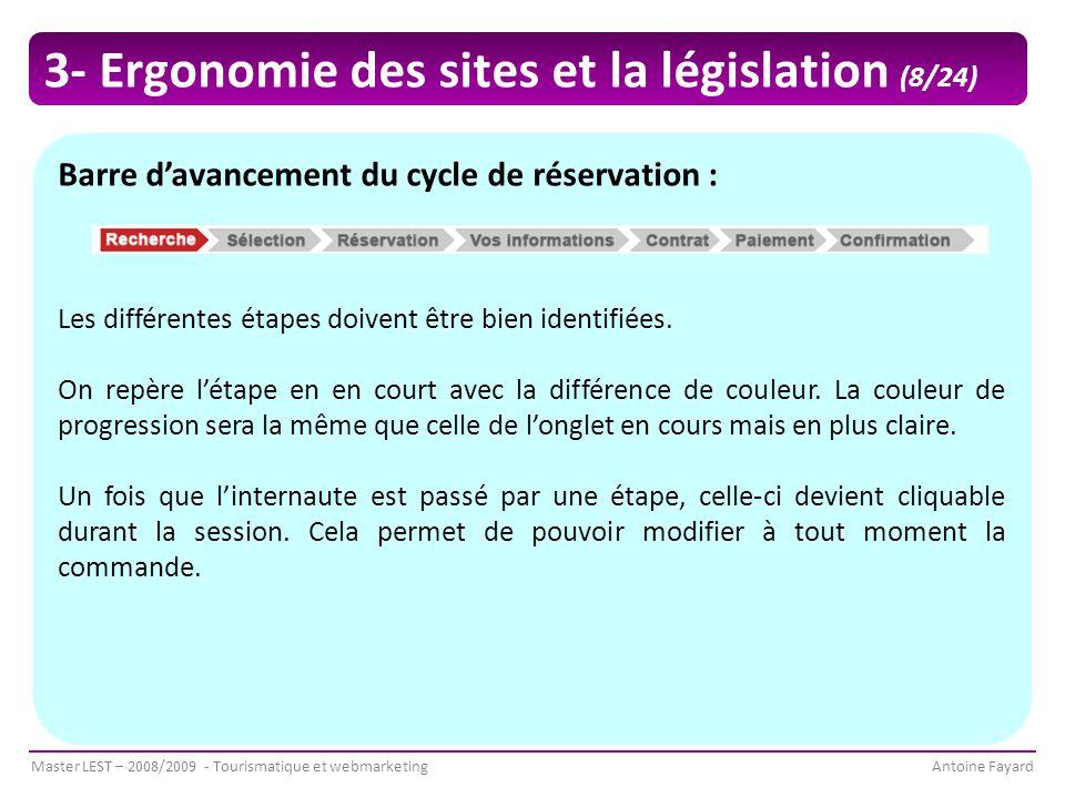 3- Ergonomie des sites et la législation (8/24)
