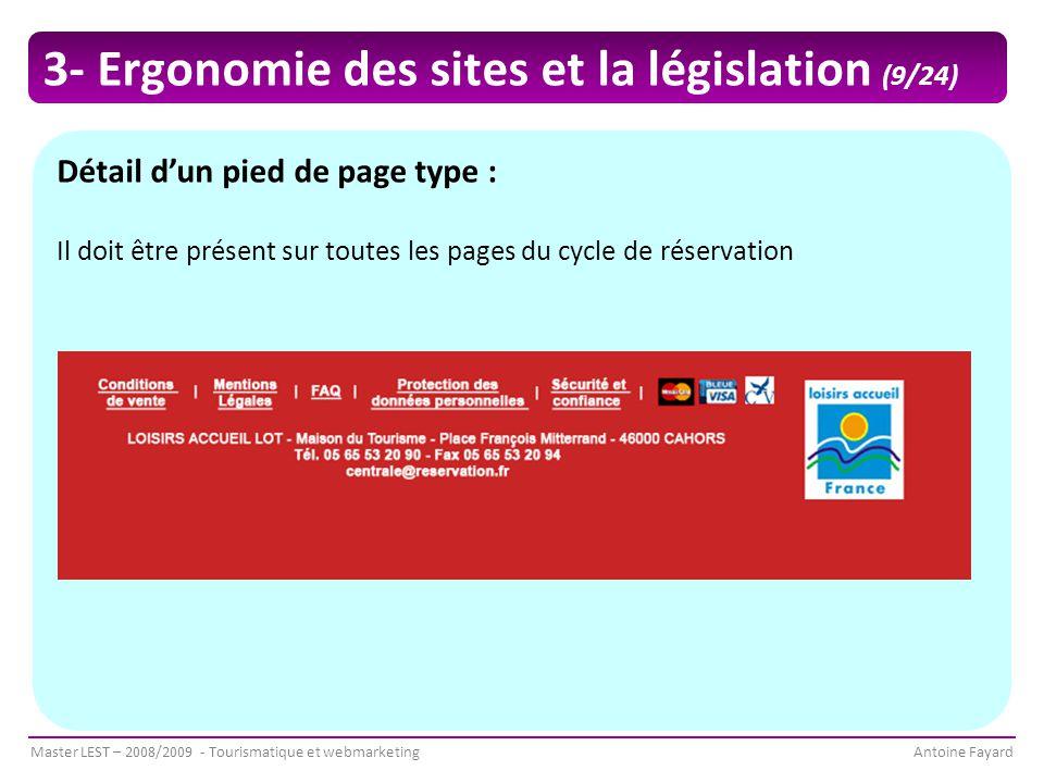 3- Ergonomie des sites et la législation (9/24)