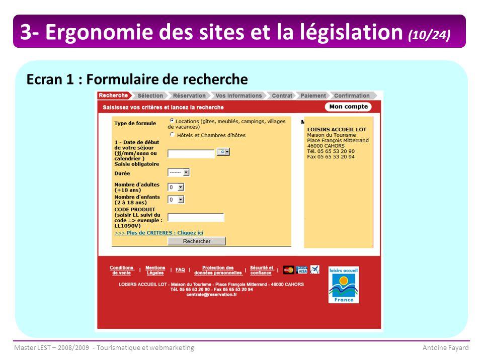 3- Ergonomie des sites et la législation (10/24)