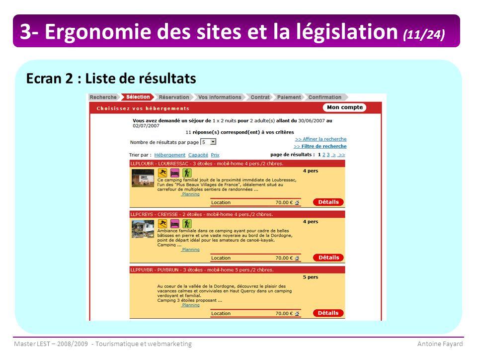 3- Ergonomie des sites et la législation (11/24)