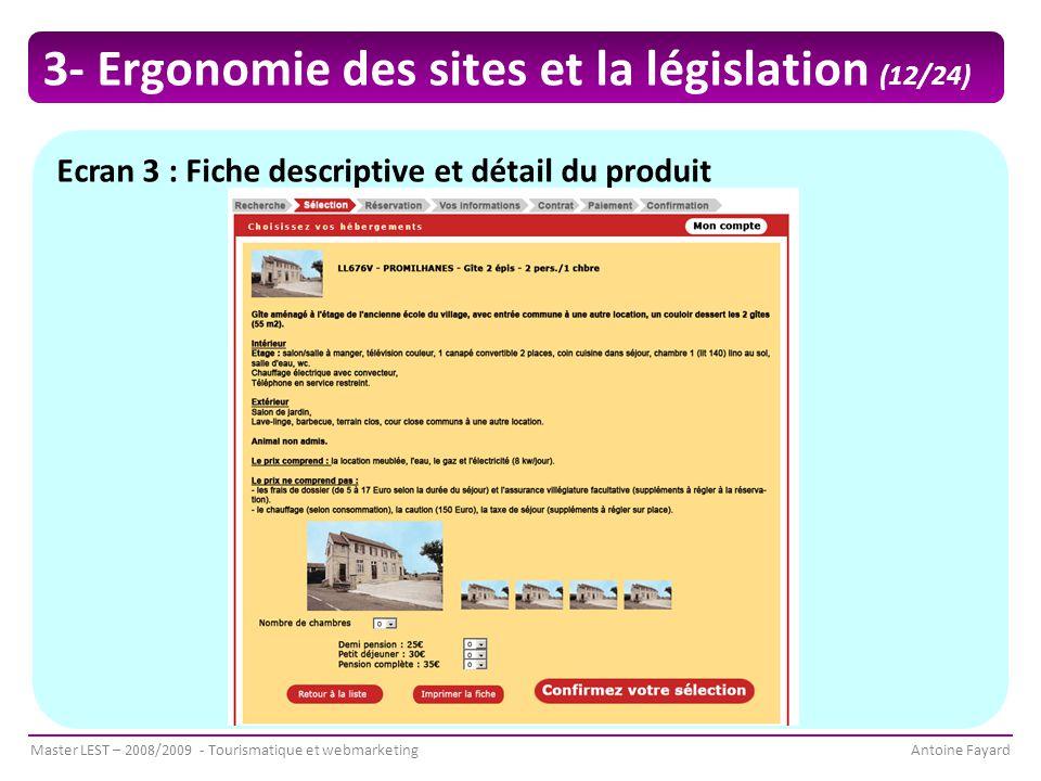 3- Ergonomie des sites et la législation (12/24)