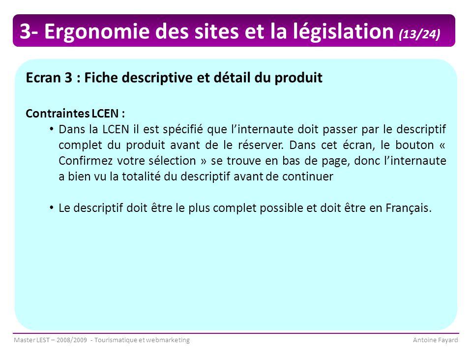 3- Ergonomie des sites et la législation (13/24)