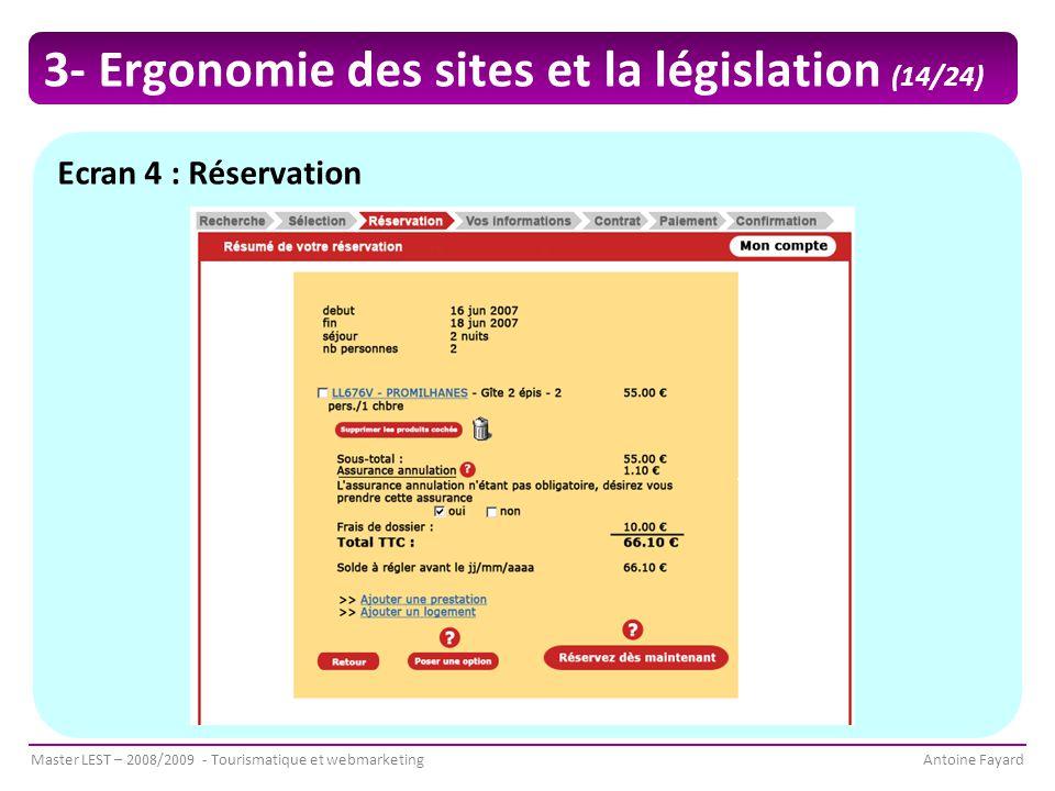 3- Ergonomie des sites et la législation (14/24)