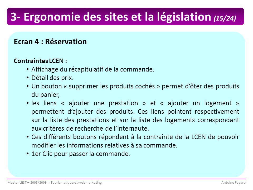 3- Ergonomie des sites et la législation (15/24)
