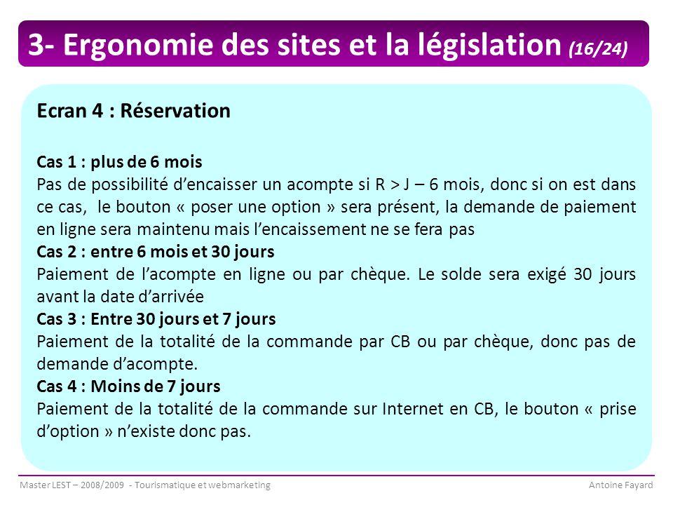 3- Ergonomie des sites et la législation (16/24)