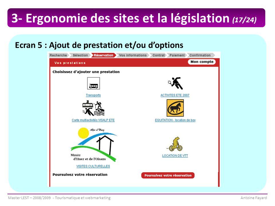 3- Ergonomie des sites et la législation (17/24)
