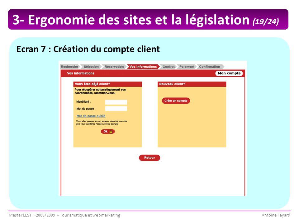 3- Ergonomie des sites et la législation (19/24)