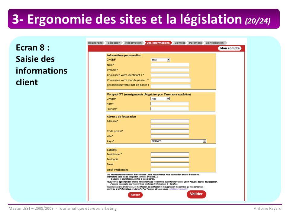 3- Ergonomie des sites et la législation (20/24)