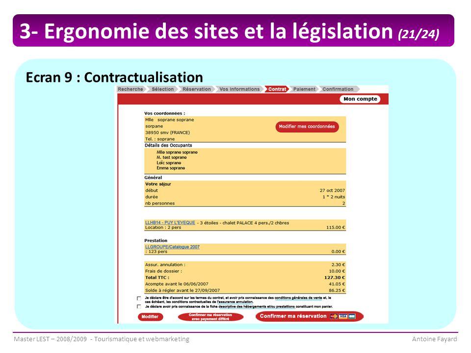 3- Ergonomie des sites et la législation (21/24)
