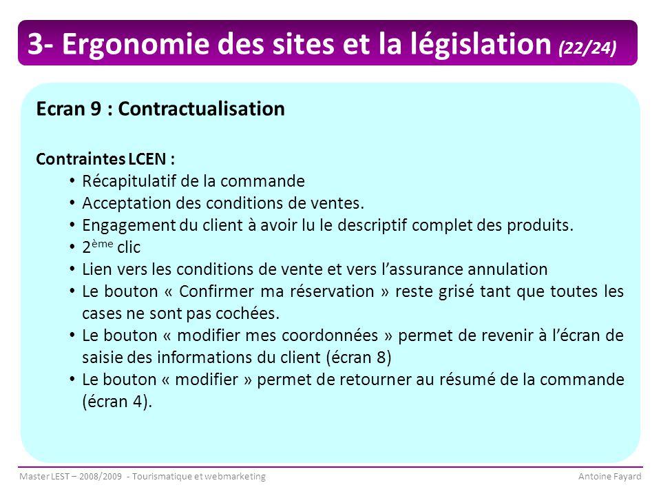 3- Ergonomie des sites et la législation (22/24)