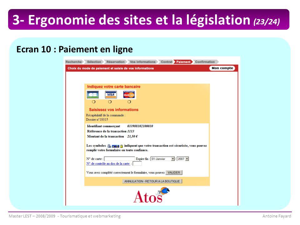 3- Ergonomie des sites et la législation (23/24)
