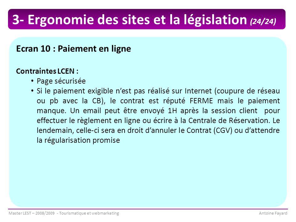 3- Ergonomie des sites et la législation (24/24)