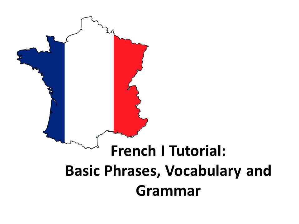 French I Tutorial: Basic Phrases, Vocabulary and Grammar
