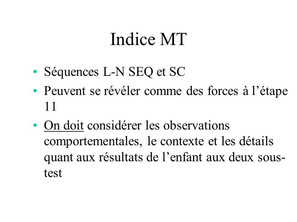 Indice MT Séquences L-N SEQ et SC