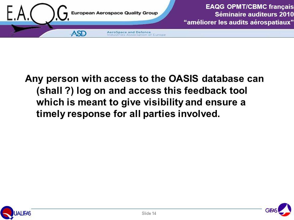 OASIS feedback tool