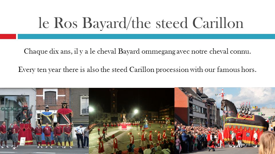 le Ros Bayard/the steed Carillon
